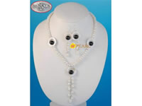 7-8mm anomalous button pearl drop necklace wholesale online