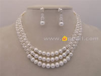 knitted white pearl & crystals bridal choker jewelry wholesale
