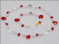 7-8mm rice pearl red crystal jewelry set wholesale online