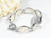 14*20mm natural white shell bracelet