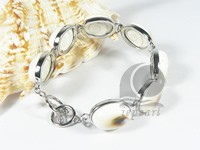 14*20mm natural color shell bracelet
