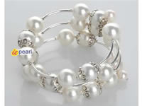 closeout sale hand wired 12mm white shell pearl bracelet