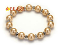 10mm shell pearls bracelet with plated silver fittings wholesale