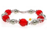 12mm red crystals bracelet with crystal fittings