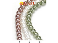 Wholesale 8mm Two-tone shell pearl strands per 16 inches