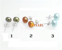 special colorized 8-8.5mm pearl earring stud wholesale