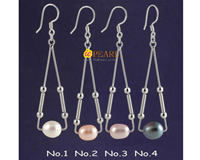 freshwater pearl triangle 925 silver earring wholesale