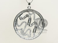 42*50mm sterling silver rhodium plated pendant wholesale