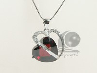 heart shape 18*25mm sterling silver rhodium plated pendant