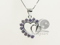 double heart shape 18*25mm sterling silver rhodium plated pendant