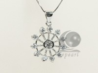 sky wheel shape 19*28mm sterling silver rhodium plated pendant