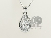 10*25mm sterling silver rhodium plated pendant wholesale