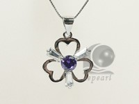 flower shape 20*25mm 925 sterling silver rhodium plated pendant