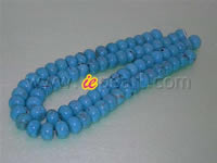 Wholesale 16mm blue flat snowflake Turquoise strands online