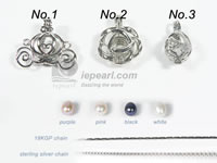lovely wish pearl cage pendant on wholesale