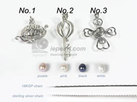 wholesale lucky wish pearl cage pendant