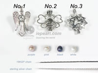 cute wish pearl cage pendant on wholesale